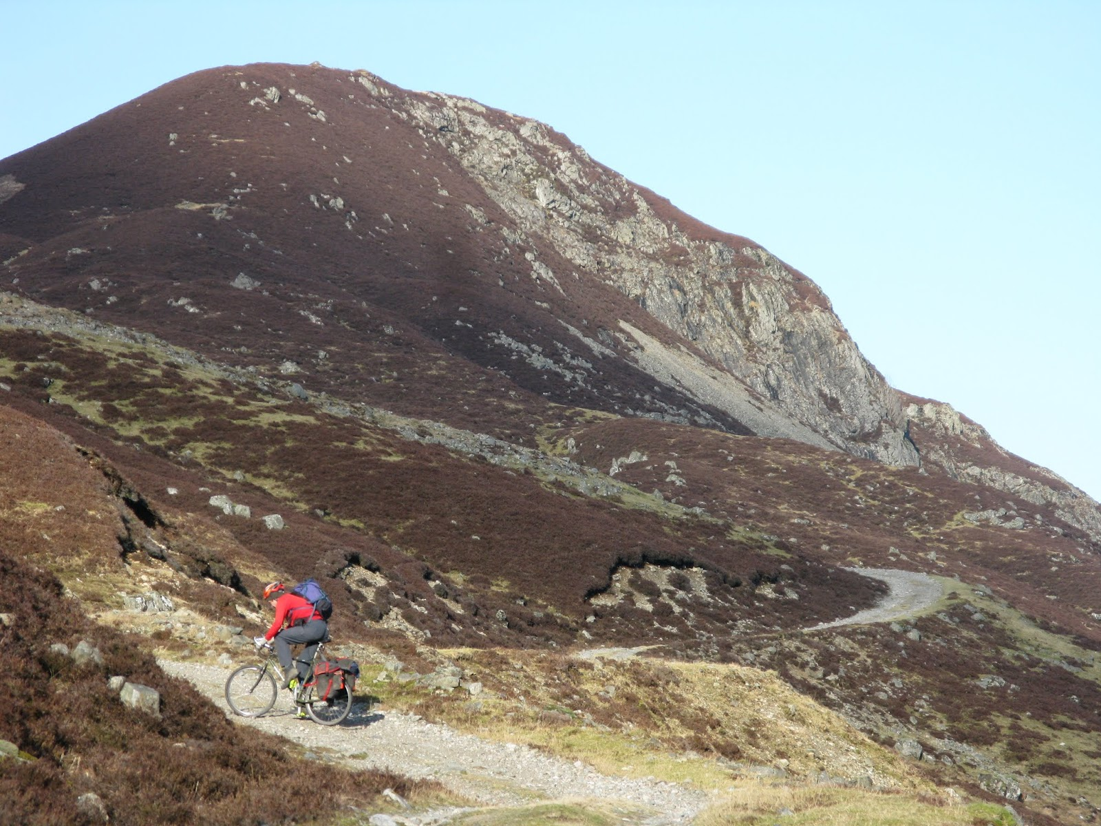 The steep climb out of Glen Tilt