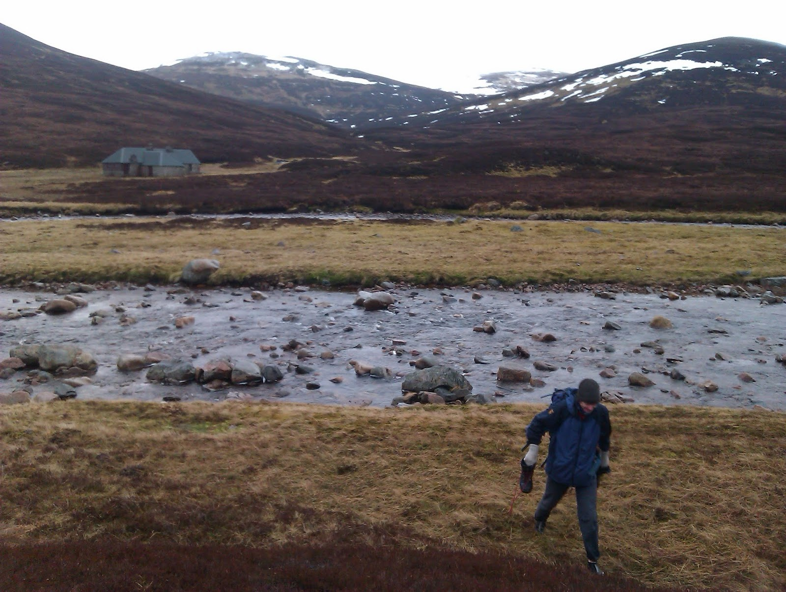 wading a scottish river