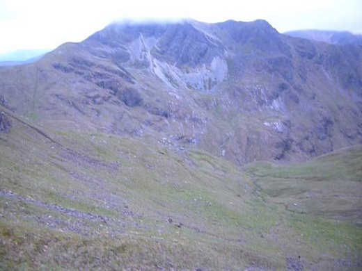 View from the Devils Ridge to Stob Ban