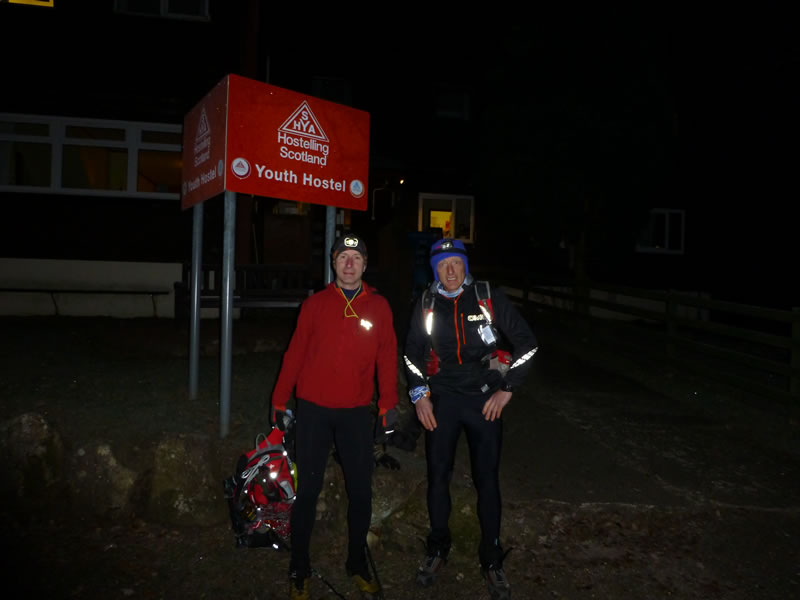 Into the unknown, Jules and Tom - Glen Nevis Youth Hostel just before 6pm on the 11th December