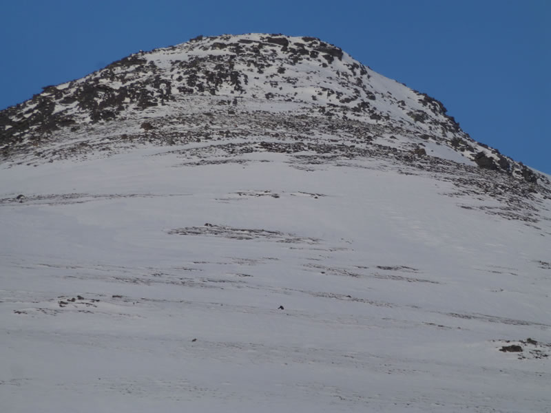 Sgurr Eilde Mor - A tiny dot on the landscape